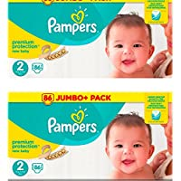 Pampers Size 2 Premium Value Pack 2 packs 86 = 172 Nappies