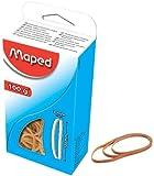 MAPED Elastiques dans un carton, nature, 60 mm, 100 g