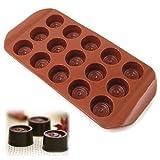 Accessotech Formine Vassoio in Silicone per Creazione di Bottoncini di Glassa Gelatina Cioccolato
