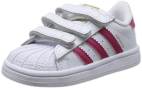 adidas Originals Superstar Foundation CF C, Unisex-Kinder Sneakers, Weiß (Ftwr White/Bold Pink/Ftwr White), 34 EU (2 Kinder UK)