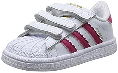 adidas - Superstar Foundation, Sneakers a collo basso infantile, Multicolore (Ftwwht/Bopink/Ftwwht), 21