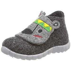 Superfit Happy, Pantofole a Collo Alto Bambino, Grigio (Grau 20), 24 EU
