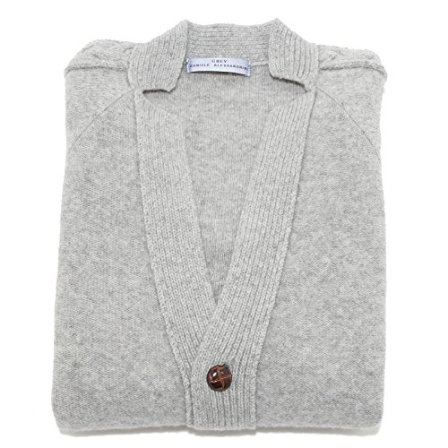 0028N maglione uomo DANIELE ALESSANDRINI lana grigio sweater men [52]