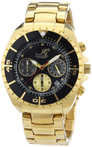 Ingraham Herren-Armbanduhr XL Syracuse Chronograph Quarz Edelstahl beschichtet IG SYRA.1.613273D Syracuse-armband