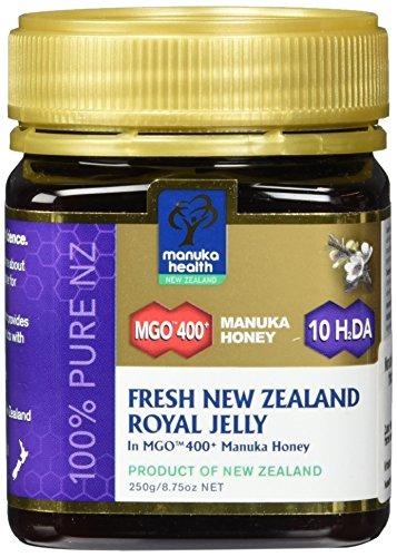 Manuka Health - Manuka Honig MGO 400 + mit Geleé Royal 250g - 100% Pur aus Neuseeland mit zertifiziertem Methylglyoxal Gehalt und Geleé Royal