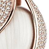 Engelsrufer Damen Himmelsträne Anhänge mit perlmuttfarbener Klangkugel 925er-Sterlingsilber rosévergoldet besetzt mit 200 weißen Zirkonia Größe 32 mm