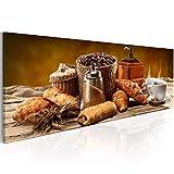 murando - Bilder 120x40 cm - Vlies Leinwandbild - 1 TLG - Kunstdruck - modern - Wandbilder XXL - Wanddekoration - Design - Wand Bild - Kaffee j-A-0059-b-b