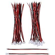 eBoot 20 Pares 1,25 mm Enchufe de Conector Mancho y Hembra Micro Eléctrico 2 Pines JST con 10 cm de Alambre de Cable