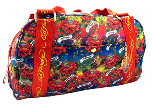 Ed Hardy 1ANY014EME  Koffer, Travelbag, Henkeltasche, Handtasche, Handgepäck-Tasche Mehrfarbig /Blau-Rot - 26 cm 1ANY014EME -