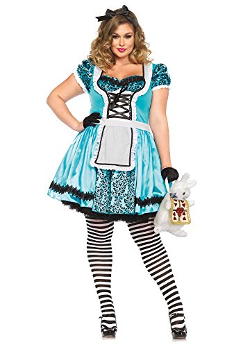 Leg Avenue 85372X - Looking Glass Alice Damen kostüm , Größe 3X-4X (EUR (4x Kostüme Halloween)