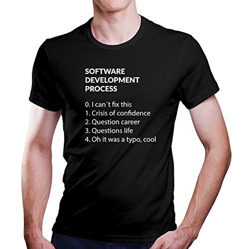 Software Entwickler T-Shirt Informatiker Programmierer Größe XS-4XL Ideales Geschenk (XXXL, Schwarz)