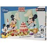 Nathan - 2 86,465 - Niño Puzzle - 45 Piezas - Mickey Minnie - Tarde - Pasteles