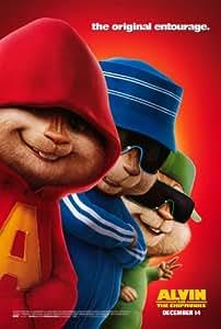 Alvin et les Chipmunks Poster Movie B 68,6x 101,6cm–69cm x 102cm Jason Lee David Croix et CGI versions de Alvin Simon et Theodore