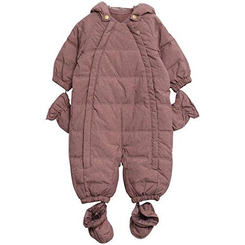 Wheat Unisex Baby Schneeanzug Down Suit, Rosa (Dusty Rouge 2163), 74 (Herstellergröße: 0-9/12M) (Down-anzug)