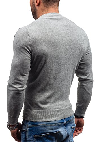 BOLF - Pull - Tricot – NEW MEN 9020 - Homme Gris