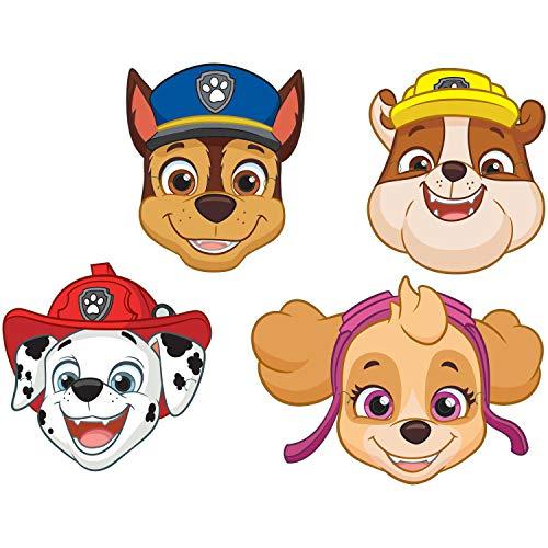 Amscan 9903839 8 Masken Paw Patrol, Mehrfarbig