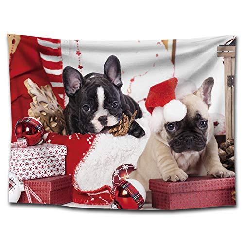 ZhenFa Weihnachten Wandteppich der Dress up Dekoration liefert nach Hause Malerei Nordic kreative hängenden Tuch Hintergrund, Tuch