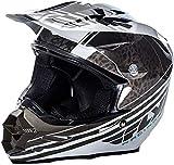 FLy Racing 2017 Casco Motocross/MTB - F2 Carbon Animal - Nero-Bianco, Schwarz, White Sleeve, L