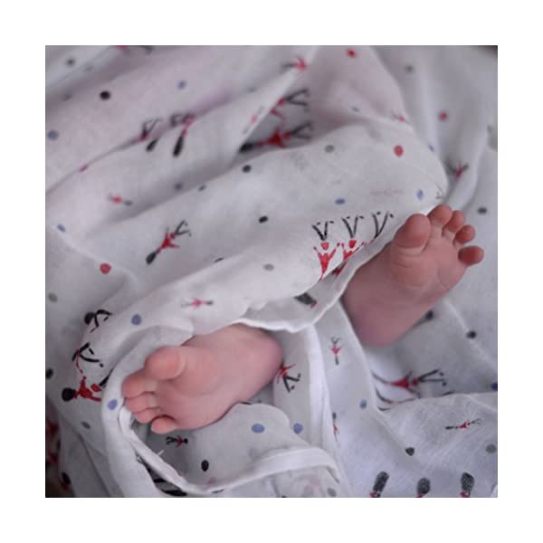 Piccalilly Organic Cotton White Boy or Girl Changing Guards Muslin Swaddle 120x120cm Piccalilly Our single layer lightweight changing guards muslin swaddle makes a perfect newborn baby gift. It's free from harmful chemicals, soft and breathable. But what makes this lovely fabric so very special is its versatility and multitude of uses. Measuring 120 x 120cm our large muslin wraps are perfect as a swaddling blanket. Use as a nursing cover, softly drape the lightweight muslin over baby while breast feeding. 4