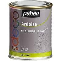 Pebeo Pintura efecto pizarra, color zinc, 250 ml