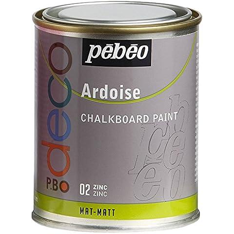 Pebeo - Pintura efecto pizarra (250 ml), color gris