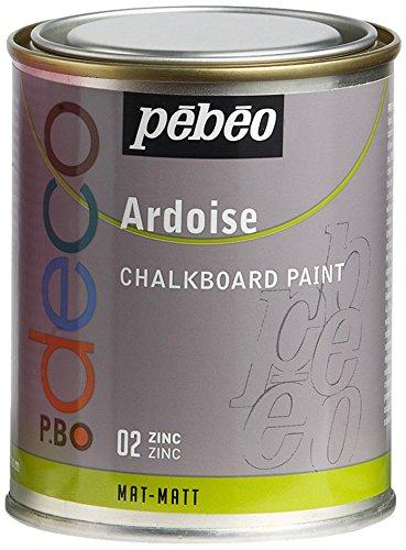 Pebeo - Pintura efecto pizarra, color zinc, 250 ml