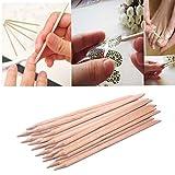 LHWY 20pc orangewood art escargot bâton cuticule pousseur remover outil pédicure manucure...