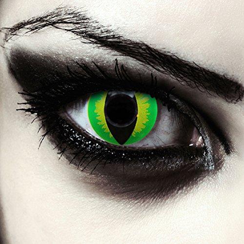 Grüne Drachenaugen Katzenaugen Kontaktlinsen für Halloween Model: