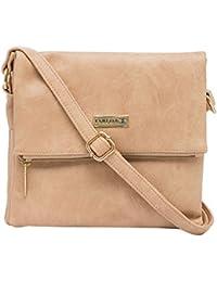 ESBEDA Beige Color Solid Drymilk Slingbag For Women