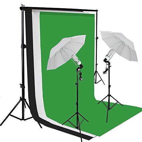 PMS® Hintergrundsystem Set mit Greenscreen und Reflexschirmen