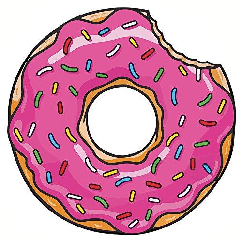 GWELL Interessant Rund Strandtuch Yoga Matte Tischdecke Dekor Wandbehang donuts