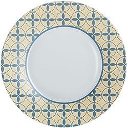 Luminarc Vajilla 18 Piezas Nordic Scandie, Blanco, Amarillo y Azul, 11.85 cm, Unidades