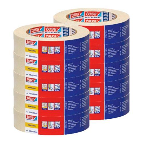 10-rolls-tesa-4348-masking-tape-50-m-x-30-mm-standard-tesakrepp-r-masking-tape-free-delivery