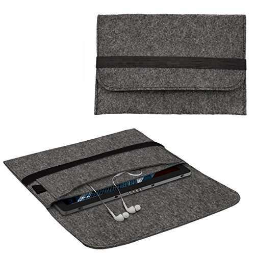 eFabrik Schutztasche für Dell Latitude 5285/7285 Tasche aus Filz (für 12,3 Zoll ohne Tastatur) Sleeve Case Soft Cover Filztasche Schutzhülle Filz, Farbe:Dunkelgrau