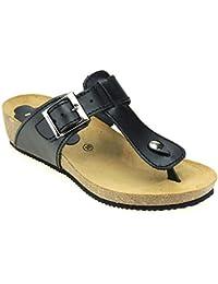 K Romero Détendre Chaussures - Nylons Avec Sport Velcro - Modèle 5107, Gris, Taille 32