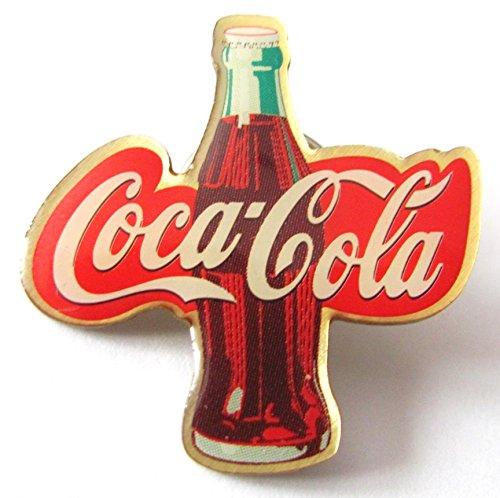 Cola Coca Kostüm Flasche - Coca-Cola - Flasche & Schriftzug - Pin 32 x 30 mm