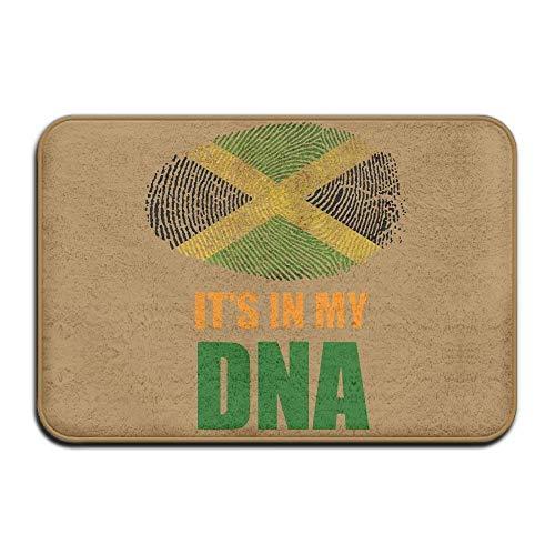 KCOUU jamaikanischen IT 'S IN My DNA Jamaika Flagge-Rutschfeste Fußmatte Teppich für Gesundheit und Wellness Küche Flur Bad Büro Badezimmer Fußmatte 59,9x 39,9cm