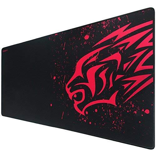 Exco spessore smooth extra large xl gaming mat superficie liscia in gomma antiscivolo mouse pad con design per i giocatori e ufficio lavoro