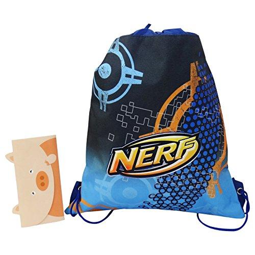 Nerf Sacco Scuola Tempo Libero Multiuso Blu