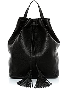 BACCINI Zaino NAPOLI - borsa a spalla - borsa a zainetto (backpack) vera pelle (32 x 25 x 10 cm)