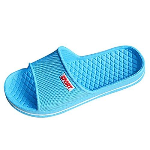 YUHUAWYH Unisex Badeschuhe Sandalen Damen Herren Dusch Schuhe Blau