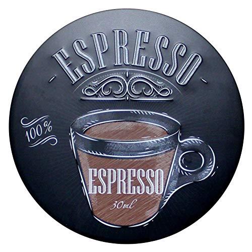 Vikenner Blechschild-Wand-Dekor Coffee Bar Schilder Metallshild Blechschilder Retro Bar Coffee Dekoschild Metall Werbeschild 30x30cm -Espresso - Espresso-metall
