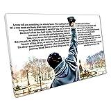 Kunstdruck auf Leinwand Rocky Balboa Zitat Let Me Tell You Something - 30 x 20 x Depth 2cm