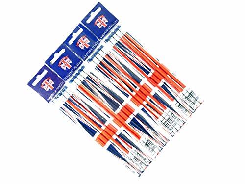 Bleistift-Set, Union Jack Design, London Souvenir Collection-4sets von 4mit Gummispitze Bleistifte -
