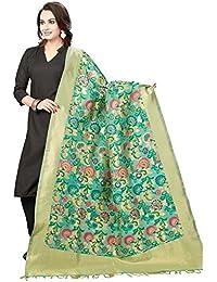 Rani Saahiba Art Cotton Silk Meenakari Chanderi Dupatta