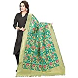 #7: Rani Saahiba Art Cotton Silk Meenakari Chanderi Dupatta