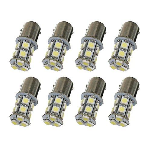 Preisvergleich Produktbild SODIAL(R) 10 Stueck BAY15D P21/ 5W 1157 13 5050-SMD Kalt Weisse Schalten Bremse LED Licht Lampen Birnen