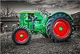 Poster 60 x 40 cm: Deutz Traktor Oldtimer von Peter Roder - Hochwertiger Kunstdruck, Kunstposter
