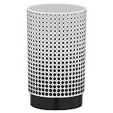 Sealskin 361890419 Becher Speckles, Zahnputzbecher aus ABS, Farbe: Schwarz / Weiß, 6.9 x 6.9 x 11.4 cm