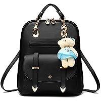 Vintage Stylish Girls School Bag College Bag Casual Backpack(A17) (Black)